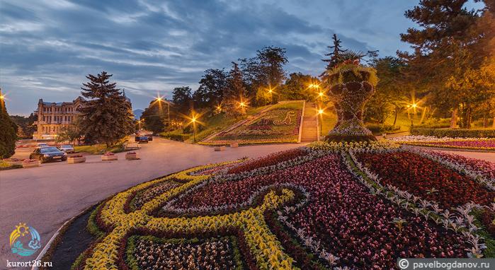 парк цветник фото в пятигорске